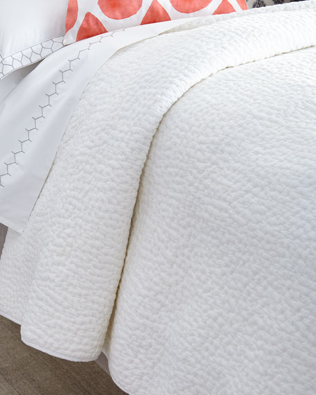 King Hand-Stitched Coverlet