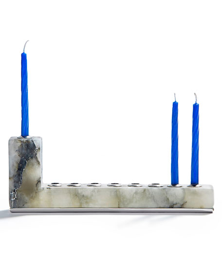 ANNA by RabLabs Brillante Menorah with Silver Hardware