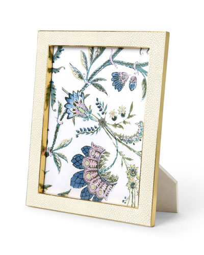 Cream Faux-Shagreen 8 x 10 Picture Frame
