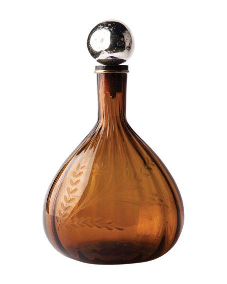 Amber Ballin Gourd Decanter