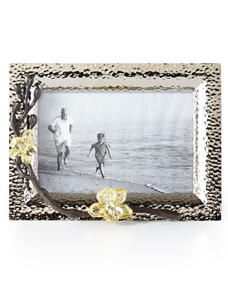 """Gold Orchid 4"""" x 6"""" Picture Frame"""