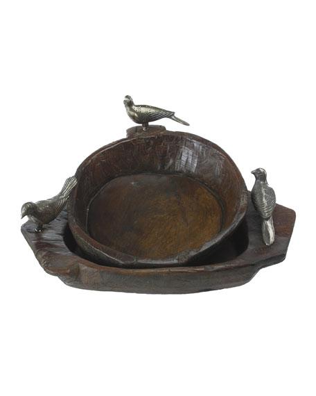 Primitive Two-Bird Bowl