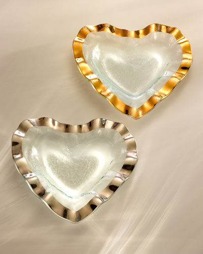 Ruffle Gold 8 Heart Bowl