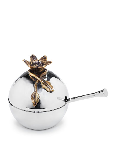 Aviva Pomegranate Covered Bowl with Spoon