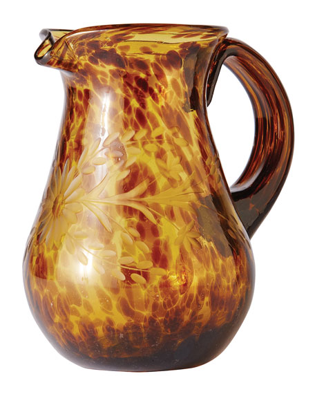 Jan Barboglio El Jefe Jaguar Glass Pitcher