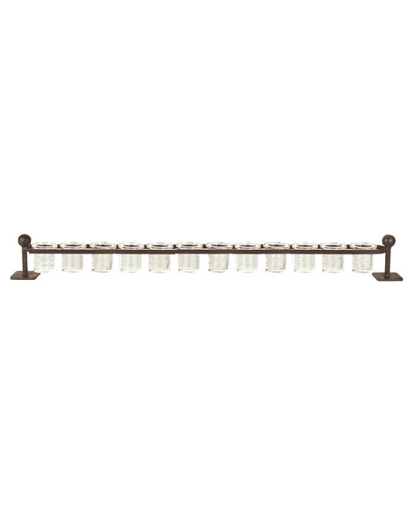 Jan Barboglio 12-Light Railroad Candleholder