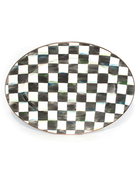 MacKenzie-Childs Medium Courtly Check Oval Platter