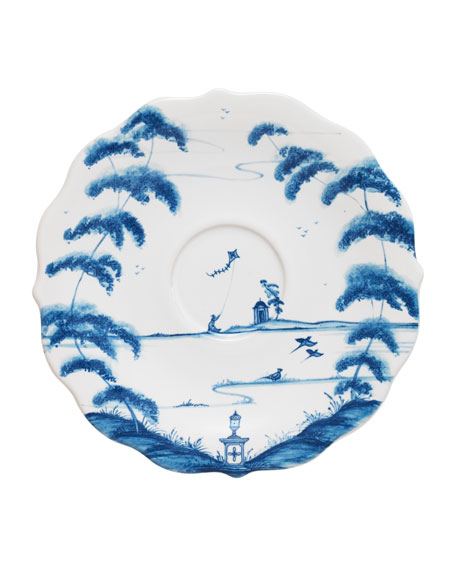 Country Estate Delft Blue Saucer