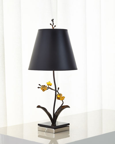 Gold Orchid Table Lamp
