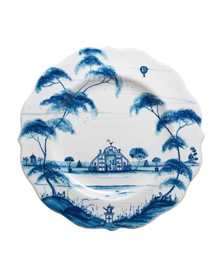 Country Estate Delft Blue Salad/Dessert Plate
