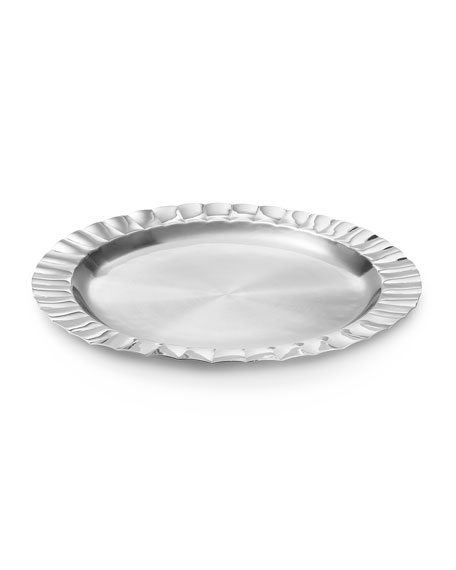 Silhouette Scalloped Round Tray