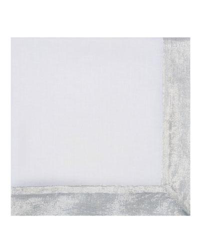 Shimmer Border Linen Napkin, Silver