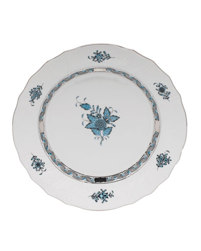 Chinese Bouquet Turquoise & Platinum Dinner Plate