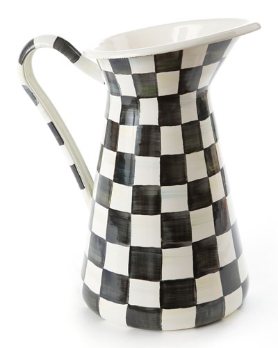 Courtly Check Enamel Pitcher