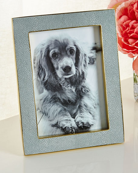 """Mist Classic Faux-Shagreen 5"""" x 7"""" Picture Frame"""