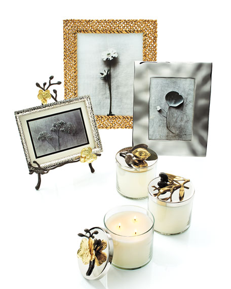 Gold Orchid Easel Picture Frame