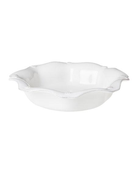Juliska Berry & Thread White Scalloped Pasta Bowl