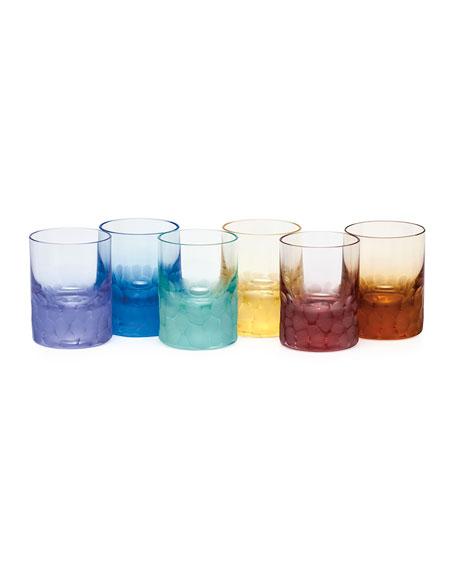 Moser Set of Six Pebbled Crystal Shot Glasses
