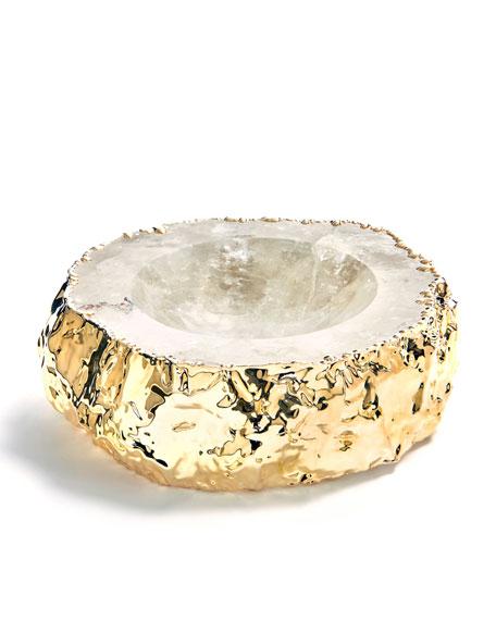 Cascita Crystal & Gold Bowl