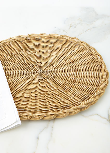 Braided Basket Oval Natural