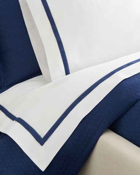 Full/Queen Oxford Border Flat Sheet