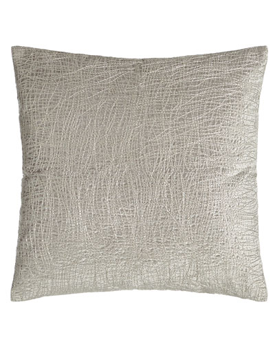 Metallic Embroidered Velvet Pillow  18Sq.