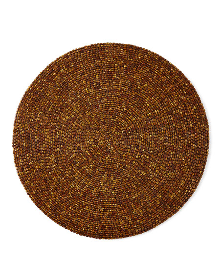 Kim Seybert Beaded Round Placemat