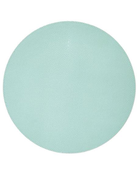 Blue Faux-Shagreen Placemat