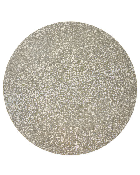 Gray Faux-Shagreen Placemat