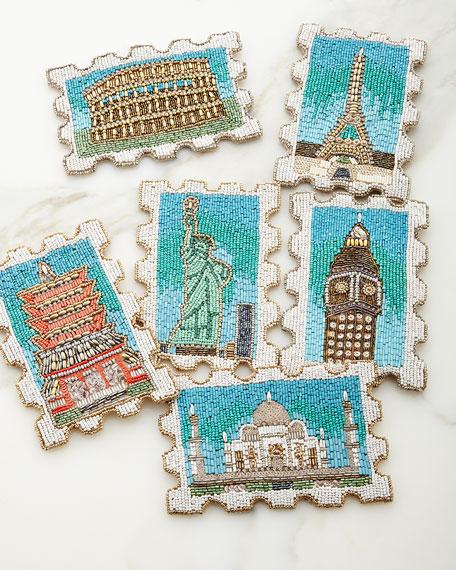 """Stamp"" Coasters, Set of 6"