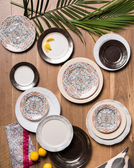 Sitio Stripe Indigo Dessert/ Salad Plate