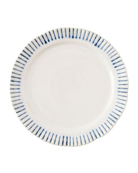 Juliska Wanderlust Stripe Indigo Dessert/Salad Plate