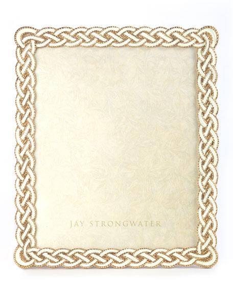 Jay Strongwater Cream Braided Picture Frame, 8