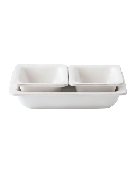 Puro Whitewash 3-Piece Hostess Set