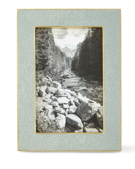 """Mist Classic Faux-Shagreen 4"""" x 6"""" Picture Frame"""