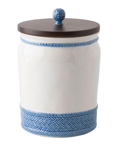 Juliska Le Panier White/Delft Blue Canister, 10