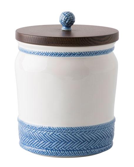Juliska Le Panier White/Delft Blue Canister, 7.5