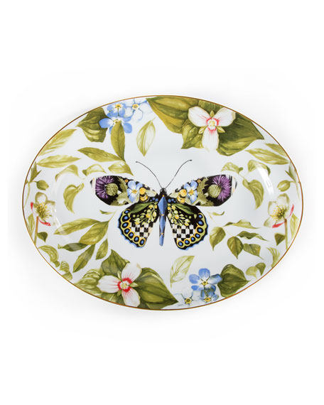 MacKenzie-Childs Thistle & Bee Serving Platter