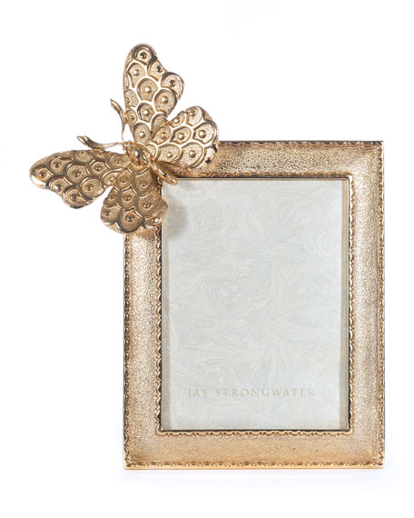 Jay Strongwater Juno Butterfly Picture Frame, 3