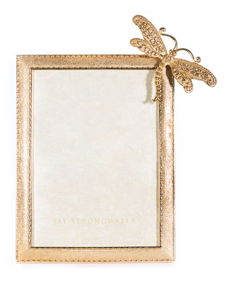Jay Strongwater Tori Dragonfly Picture Frame, 5