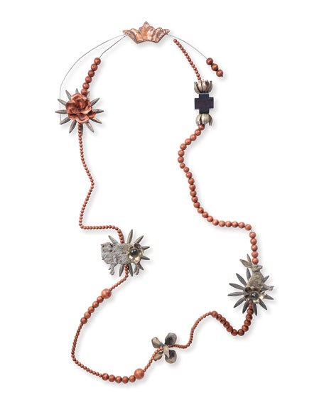 Jan Barboglio Wall Blessing Beads, Red