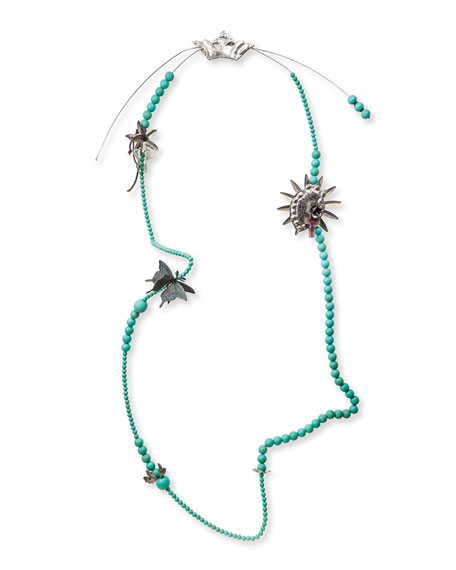 Jan Barboglio Wall Blessing Beads, Turquoise