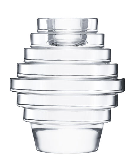 Oxymore Large Candlestick, Clear