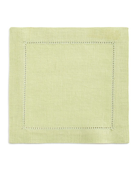 SFERRA Hemstitch Cocktail Napkins, Set of 6