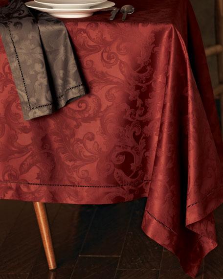 "Plume Jacquard 104"" Round Tablecloth"