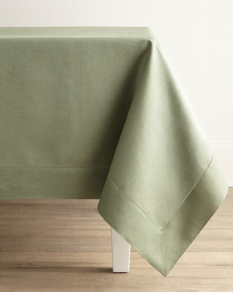 "Hemstitch Tablecloth, 66"" x 140"""