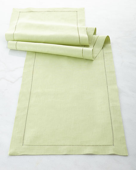 "Hemstitch Table Runner, 15"" x 108"""