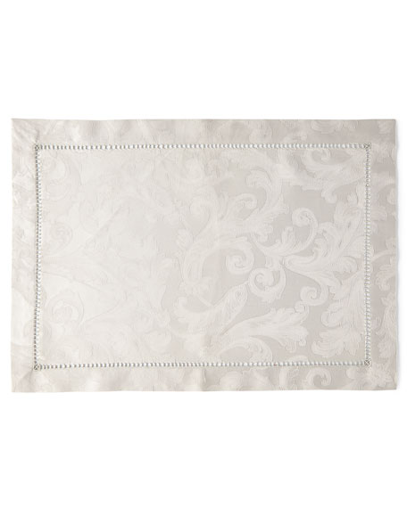 SFERRA Plume Jacquard Placemats, Set of 4