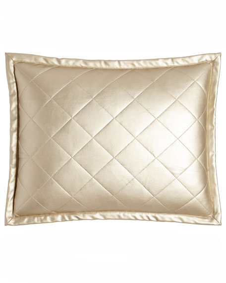 Ann Gish Diamond Faux-Leather Pillow