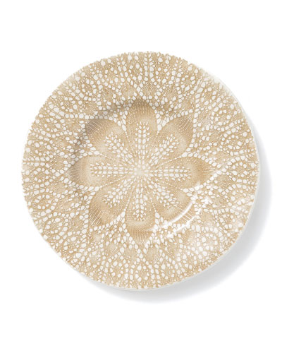 Lace Natural Cocktail Plates  Set of 4